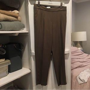 Aritzia Babaton Cohen Toredo Pants in Olive Green
